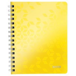 Blok poznámkový linajkový Leitz WOW A5 metalický žltý
