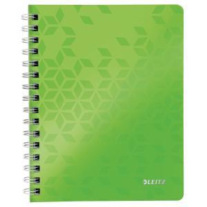 Blok poznámkový linajkový Leitz WOW A5 metalický zelený
