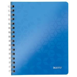 Blok poznámkový štvorčekový Leitz WOW A5 modrý