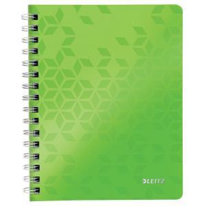 Blok poznámkový štvorčekový Leitz WOW A5 metalická zelená