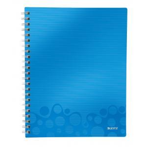 Blok poznámkový linajkový organizačný Leitz WOW A4 metalická modrá