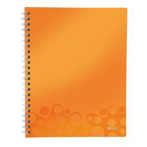Blok poznámkový linajkový organizačný Leitz WOW A4 metalická oranžová