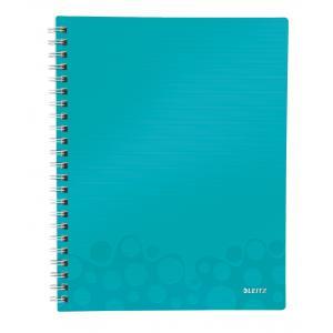 Blok poznámkový linajkový organizačný Leitz WOW A4 ľadovo modrá