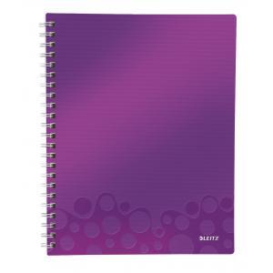 Blok poznámkový linajkový organizačný Leitz WOW A4 purpurová
