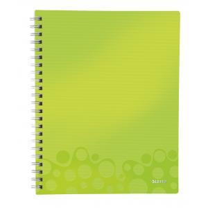 Blok poznámkový linajkový organizačný Leitz WOW A4 metalická zelená