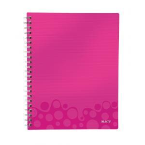 Blok poznámkový štvorčekový organizačný Leitz WOW A4 metalická ružová