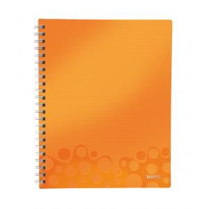 Blok poznámkový štvorčekový organizačný Leitz WOW A4 metalická oranžová