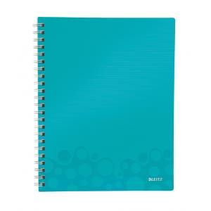 Blok poznámkový štvorčekový organizačný Leitz WOW A4 ľadovo modrá