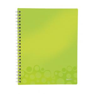 Blok poznámkový štvorčekový organizačný Leitz WOW A4 metalická zelená