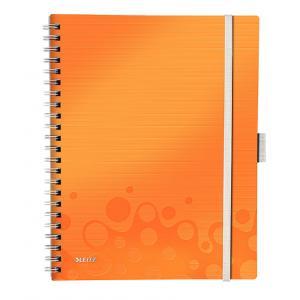 Blok poznámkový linajkový mobilný Leitz WOW A4 oranžový