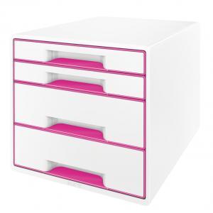 Zásuvkový box Leitz WOW ružový