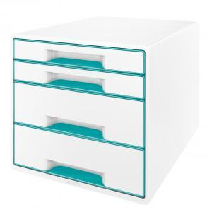 Zásuvkový box Leitz WOW ľadovo modrý