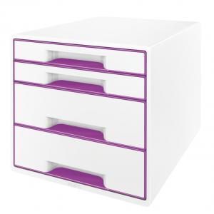 Zásuvkový box Leitz WOW purpurový