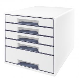 Zásuvkový box Leitz WOW perleťová biela