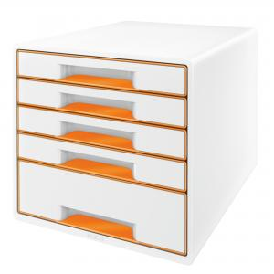 Zásuvkový box Leitz WOW metalická oranžová