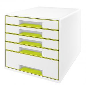 Zásuvkový box Leitz WOW metalická zelená