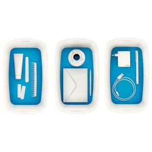 Úložný box s vekom Leitz MyBox, veľkosť S biela/modrá