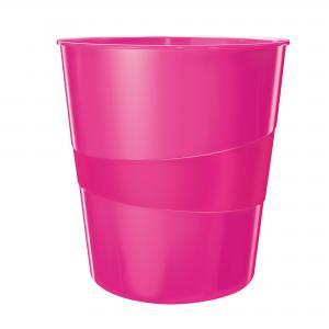 Odpadkový kôš 15l Leitz WOW ružový