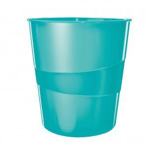 Odpadkový kôš 15l Leitz WOW ľadovo modrý