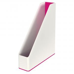 Stojan na časopisy Leitz WOW biely/metalický ružový
