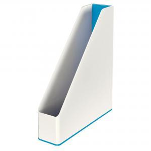Stojan na časopisy Leitz WOW biely/metalický modrý