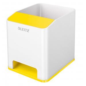 Stojan na perá hudobný Leitz WOW žltý