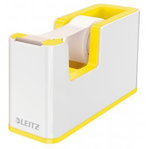 Dispenzor s páskou Leitz WOW biely/žltý