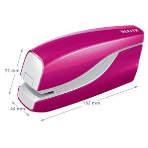 Elektrická zošívačka Leitz New NeXXt WOW 5566 ružová