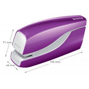 Elektrická zošívačka Leitz New NeXXt WOW 5566 purpurová
