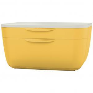 Zásuvkový box Leitz Cosy teplý žltý