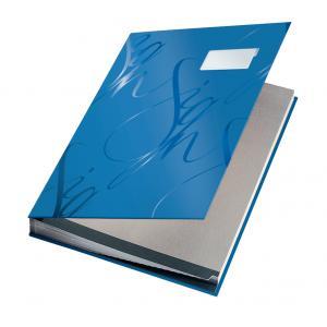Podpisová kniha designová Leitz modrá