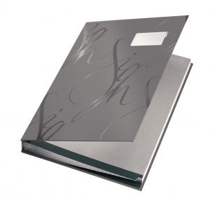 Podpisová kniha designová Leitz sivá
