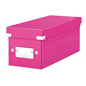 Škatuľa na CD Click & Store ružová