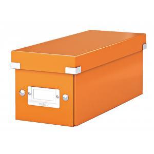 Škatuľa na CD Click & Store oranžová