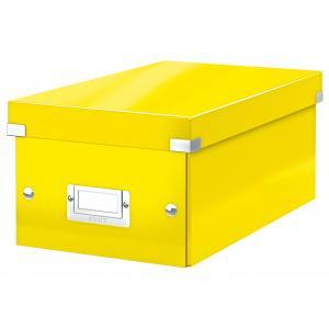 Škatuľa na DVD Click & Store WOW žltá