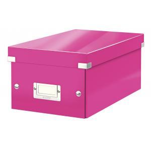 Škatuľa na DVD Click & Store WOW ružová