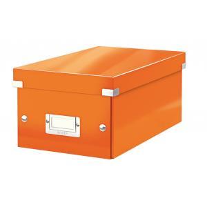 Škatuľa na DVD Click & Store WOW oranžová