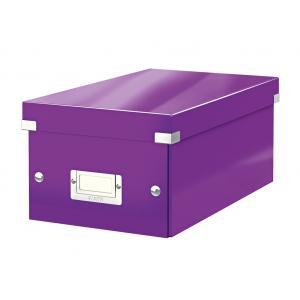 Škatuľa na DVD Leitz Click & Store WOW purpurová