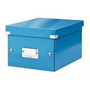 Malá škatuľa Click & Store metalická modrá