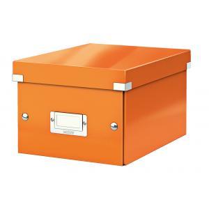 Malá škatuľa Click & Store oranžová