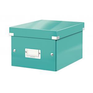 Malá škatuľa Click & Store ľadovo modrá