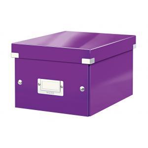 Malá škatuľa Click & Store purpurová