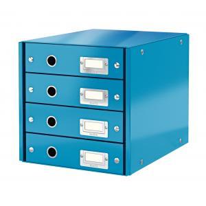 Zásuvkový box Leitz Click & Store 4 zásuvky modrý