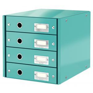 Zásuvkový box Leitz Click & Store 4 zásuvky ľadovo modrý