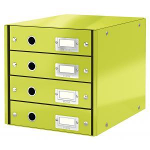 Zásuvkový box Leitz Click & Store 4 zásuvky zelený