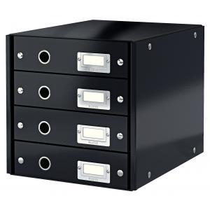 Zásuvkový box Leitz Click & Store 4 zásuvky čierny