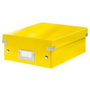 Malá organizačná škatuľa Click & Store žltá