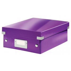 Malá organizačná škatuľa Click & Store purpurová