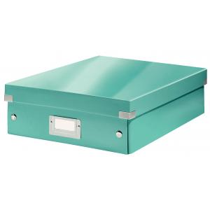 Stredná organizačná škatuľa Click & Store ľadovo modrá