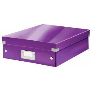 Stredná organizačná  škatuľa Click & Store purpurová